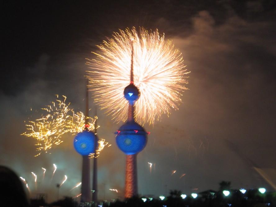 Kuwait Towers Giant Fireworks Show 33