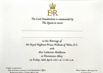 royal wedding prince william invitation. Prince William#39;s Wedding